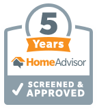 5 years home advisor screened and approved
